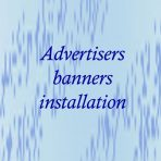 Advertisers banners installation